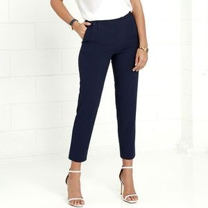 Lulus | Kick It Navy Blue Trouser Pants